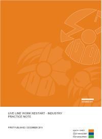 Full size image of Live Line Work Restart - Industry Practice Note